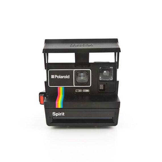 polaroid spirit 600 with rainbow strip and black by shutterlightoc. Black Bedroom Furniture Sets. Home Design Ideas
