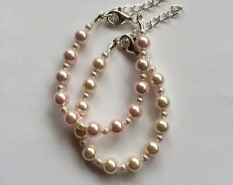 Little Ethereal's custom bracelet - You pick Swarovski pearl color