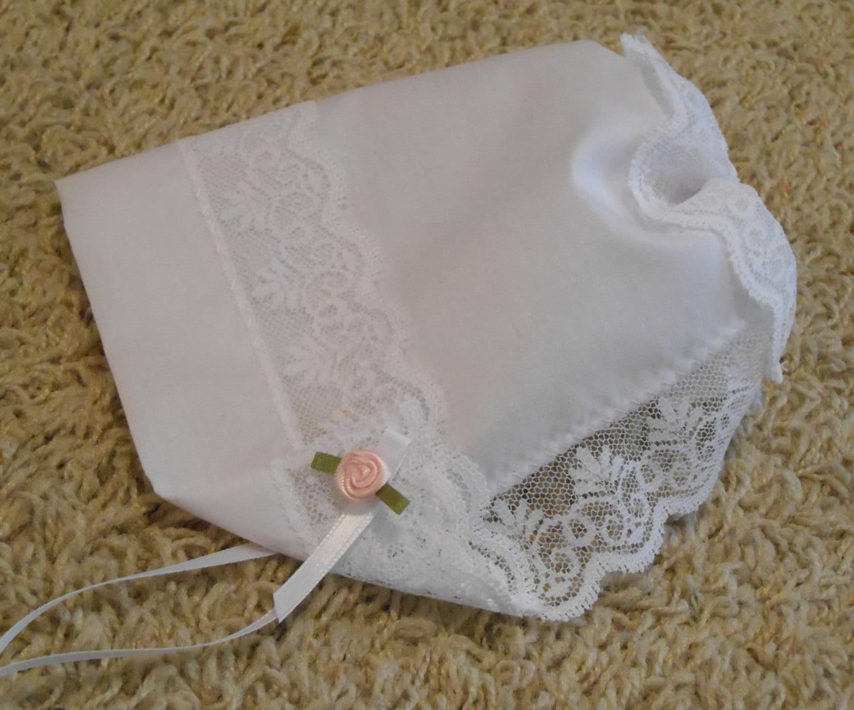 Baby Hankie Bonnet Wedding Handkerchief With By