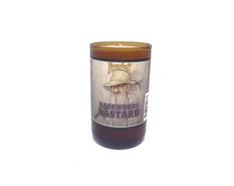 Founders backwoods bastard beer bottle Soy Candle. 8-9 oz