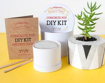 DIY Kit Concrete Pot   Planter Craft Box