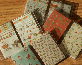 12 Christmas Handmade Gift Tags - set of 12