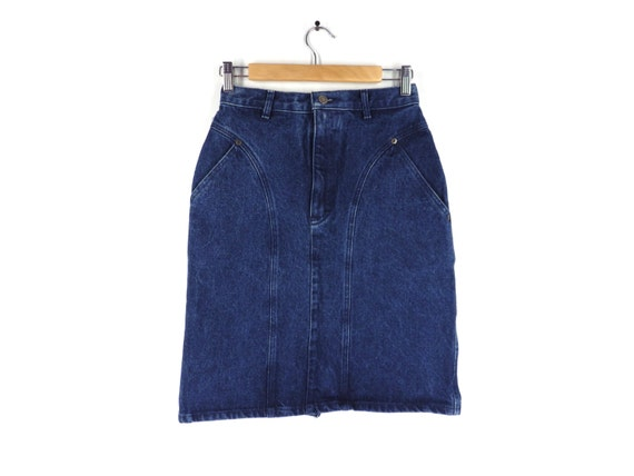 80s calvin klein denim mini skirt union usa made by iterations