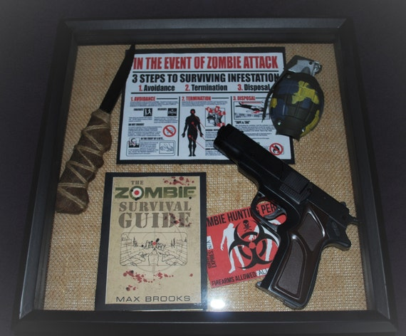 Man Cave Zombie Survival Kit : Zombie apocalypse walking dead z nation rick by heartandhome