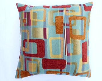 "Bold Retro Atomic fun Mid Century Modern style - Accent Pillow -  17"" x 17"" with feather/down insert"