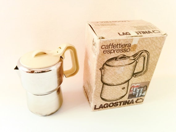 Italian Coffee Maker Best Coffee : Vintage Italian Coffee Maker Lagostina Stove top Espresso