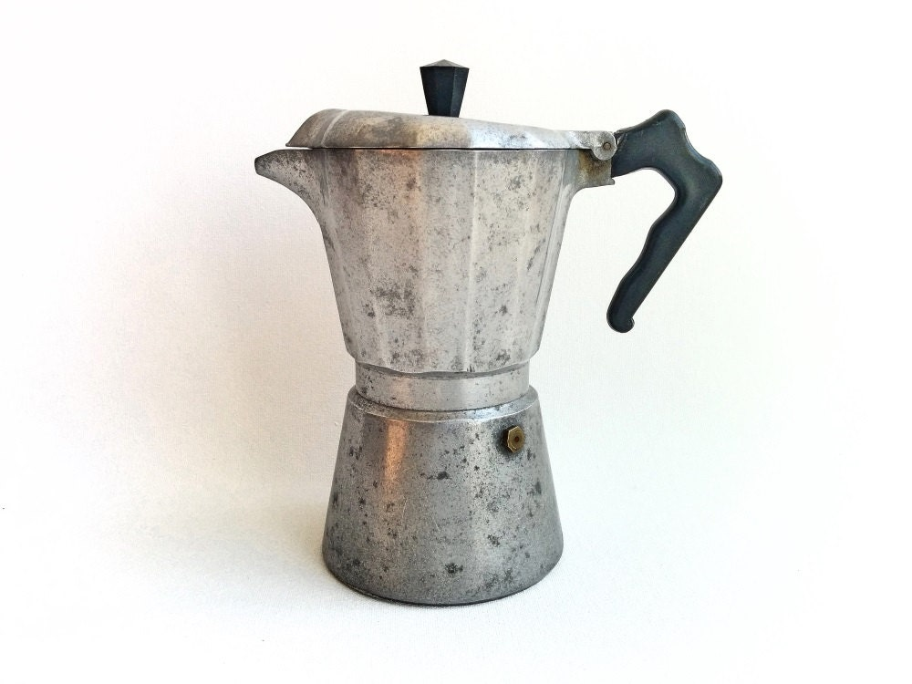 Antique Italian Coffee Maker : Vintage Italian Coffee Maker Mondial Express Cafe Stove top