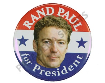 """2016 RAND PAUL for PRESIDENT Campaign Button, 2.25"""" Diameter rps"""