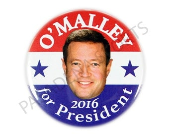 "2016 MARTIN O'MALLEY for PRESIDENT Campaign Button, 2.25"" Diameter mosd"