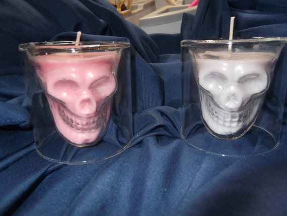 Day of the Dead, Sugar Skull Shot Glass Candle!