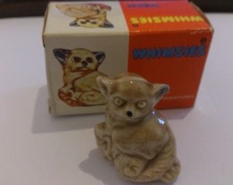 Two Bush Baby wade whimsies, one boxed