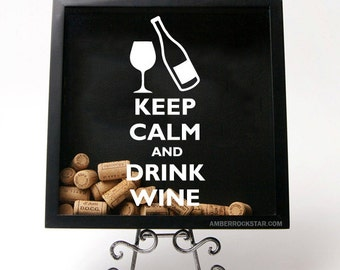 Keep Calm and Drink Wine - Vinyl Sticker Decal