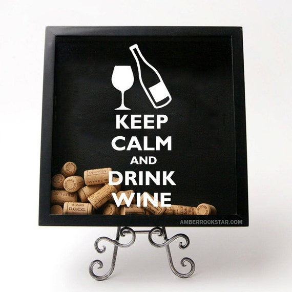 Keep Calm And Drink Wine Vinyl Sticker Decal