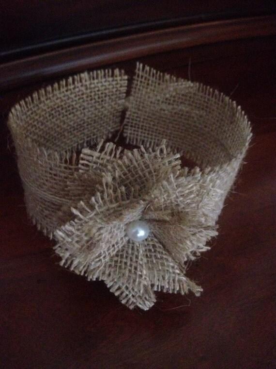 Set of 10 Primitive Natural Burlap Mason Jar Wrap Sleeve Rustic Country Barn Wedding Bridal Baby Shower Decor