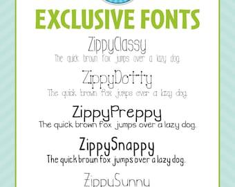 Zip-A-Dee-Doo-Dah Designs Handmade Font Collection 2 — Includes Commercial License