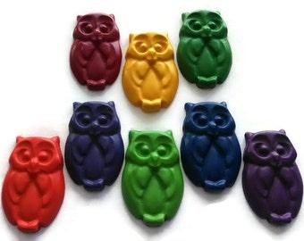 owl crayons set of 8 owls themed party woodland animals crayons bird crayon. beautiful ideas. Home Design Ideas