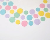 Paper Garland, Pastel Colors Garland, Easter Paper Garland, Birthday Garlands, Photo Prop Garland