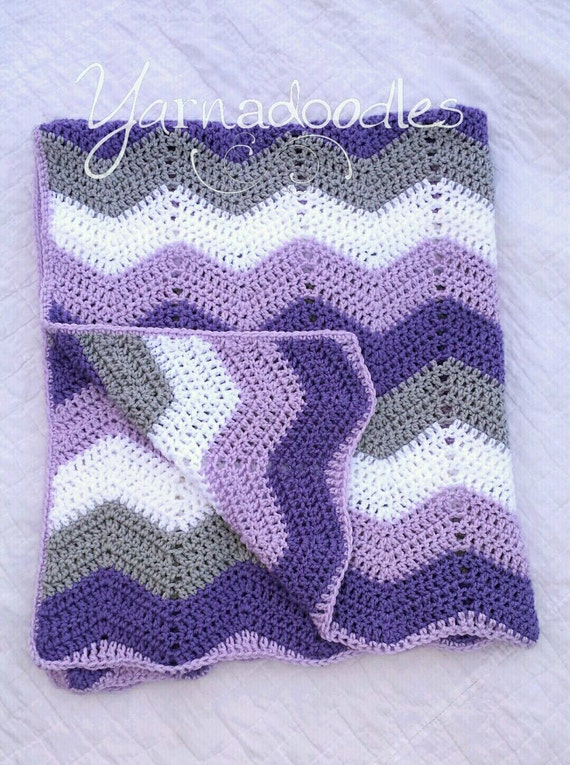 Crochet Chevron Baby Dress Pattern : Crochet Chevron Baby Girl Infant Lavender Purple Gray White