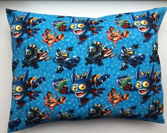 Travel or Child Size Pillow Case / Standard Pillow Case /  Skylanders