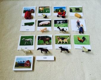 Montessori Farm Life 3 Parts Card