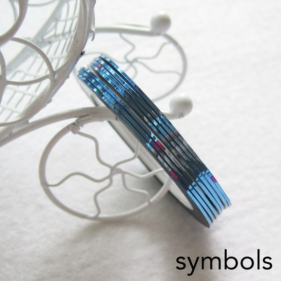 ... Blue Adhesive stripping tape nail art metalic yarn nail art sticker