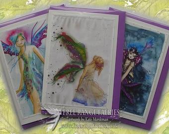 Fairy Birthday Card Pack, Faerie Cards, fairy greetings card, Fairies Birthday Card, Special Card, Note Card, Pretty Cards, Fairy Art Cards