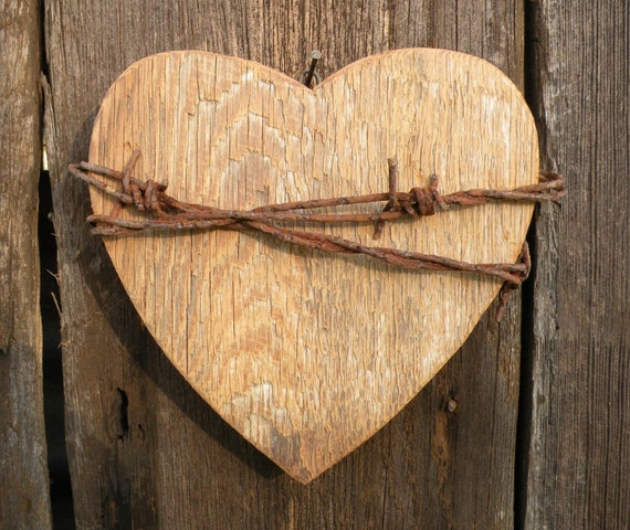 Items similar to wooden heart wall decor on etsy for Wooden heart wall decor