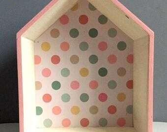 Pretty lined Shadow Box birdhouse