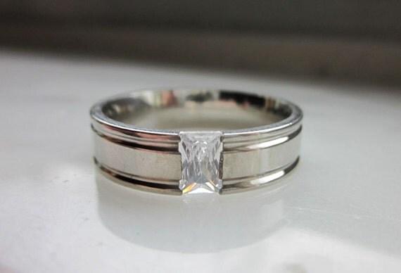 clearance titanium mens or womans wedding band titanium