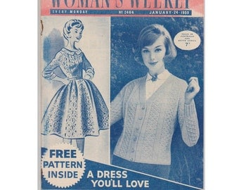 Woman's Weekly magazine, English. January 24 1959