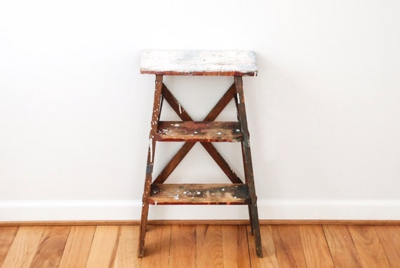 Escabeau Bois Vintage : Small Wooden Step Ladders