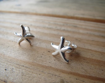Delicate Sterling Silver Starfish Stud Earrings - Beach Inspired Jewlery