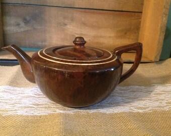 Brown Drip Glaze Teapot