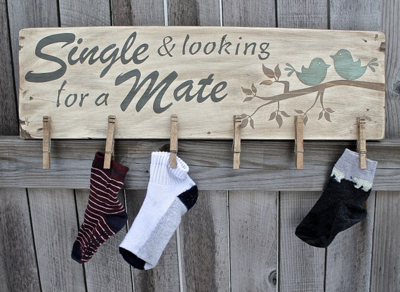 Shabby Chic Lost Sock Laundry Room Decor, Lost sock sign, Laundry room decor, Laundry room sign, Single and looking for a mate