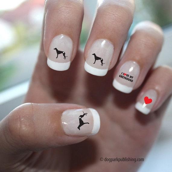 Love Nail Art: Greyhound Love Nail Art