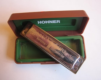Hohner Orchester 1 Vereins harmonika, A in plastic box