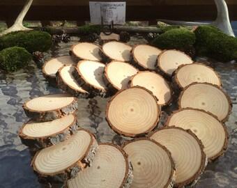 Tree Slice Coasters, Tree Branch Slices, Coaster Tree Branch Slices, Wood Slice Coasters, Wood Coasters, PINE Tree Coaster Slices, Set of 20