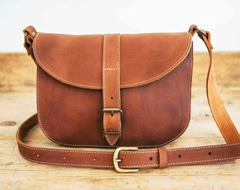Medium leather bag | Etsy