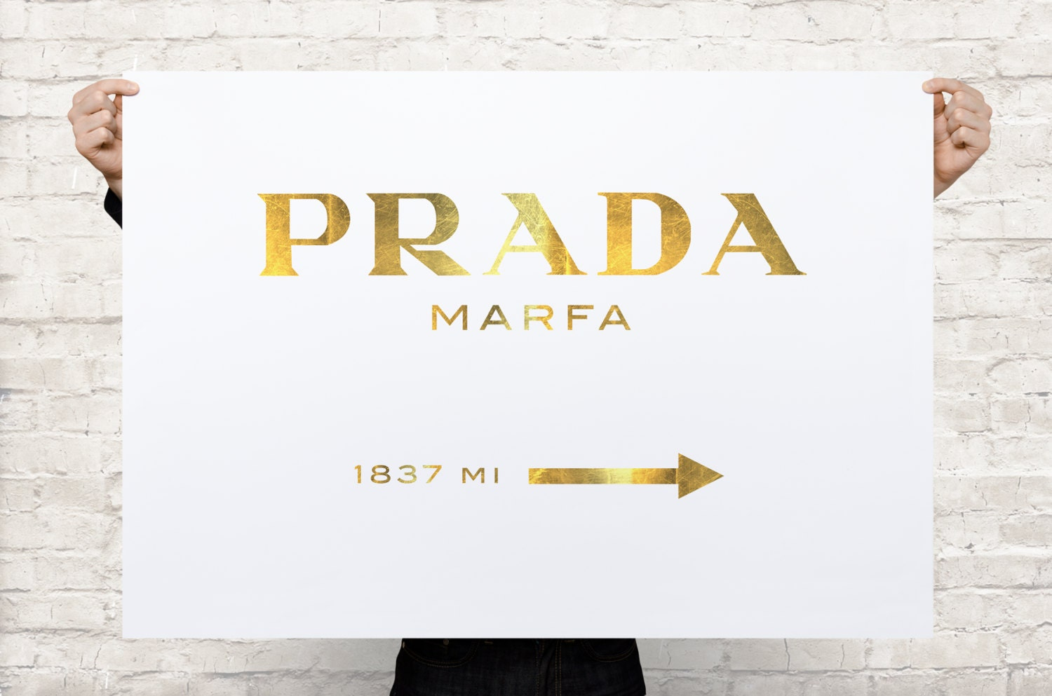 prada marfa canvas gossip girl gold oversized canvas by coolposter. Black Bedroom Furniture Sets. Home Design Ideas