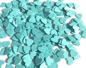 Turquoise Blue Heart Confetti