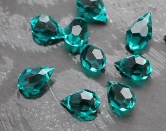 9x15mm Blue Zircon Preciosa Czech Crystal Drop PENDANT 5pcs