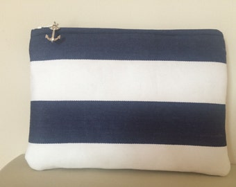 Nautical Pouch with Anchor Charm