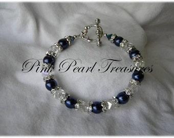 Midnight Elegance beaded bracelet
