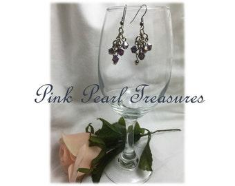 Violet Shimmer dangle earrings