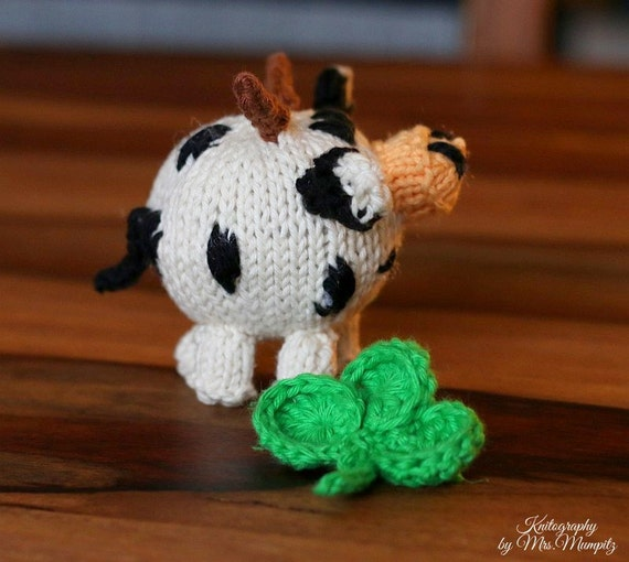 Knitting Pattern Cow Toy : Toy cow knitting pattern PDF, for beginners and advanced knitters, spring gif...