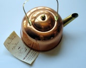 Tea Kettle, Copper Plated, Vintage, Coppercraft Guild