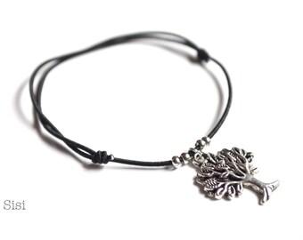 Tree of Life Bracelet black cord