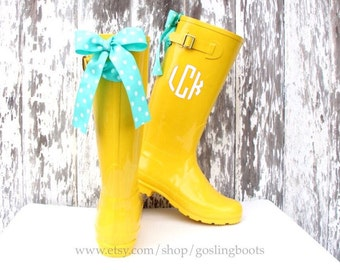 Polka dot rain boots | Etsy