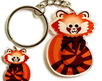 Cute Red Panda Keychain, Cute Phone Charm, kawaii red panda, animal lover, cute lover, fun accessories, phone accessories, zipper pull