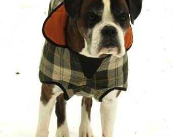 Dog coat for large breeds green